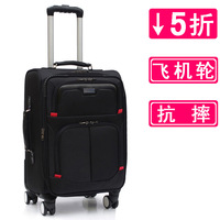 Free shipping 20 oxford fabric trolley luggage aircraft wheel universal 24 28 wheels travel bag large capacity luggage
