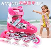 Dingxin skatse flash full set child skates adjustable roller skate shoes