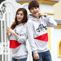 Lovers autumn and winter lovers sweatshirt thickening long-sleeve sweatshirt outerwear