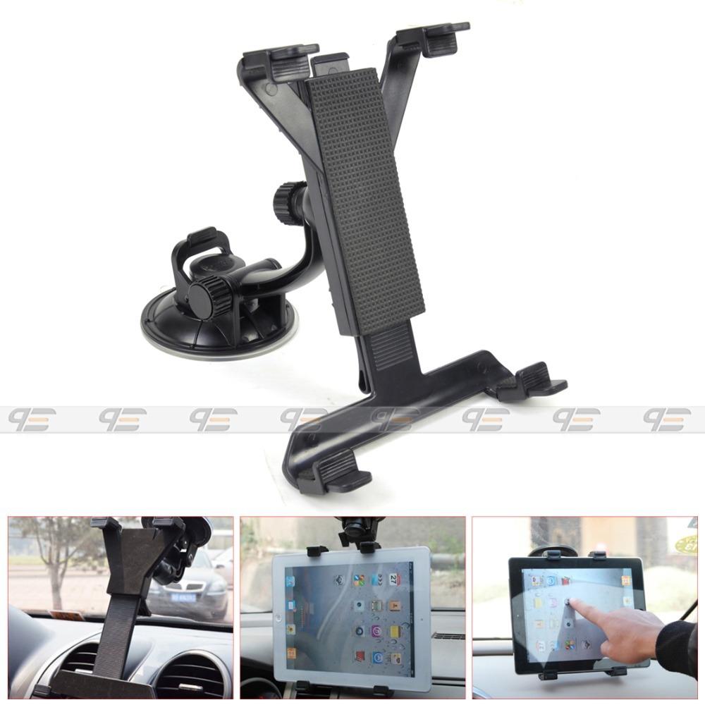 Free shipping & Tracking # Car Windshield Mount Bracket Holder for iPad 1/2/3/4 mini Tablet Galaxy PCs 360 degrees - CA01780(China (Mainland))