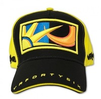 New 2014 style rossi VR46 embroidery moon sun cap yellow black F1 racing car cap motorcycleVR46 sport baseball cap