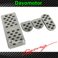 Wholesale Custom-Made Aluminum Alloy Logo Car Throttle pedal Foot Pedal Rest Plate MT For  Mazda 3