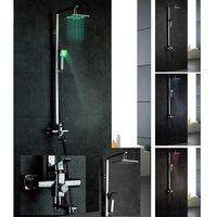 Led shower set copper thickening luxury shower nozzle set hot and cold shower