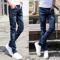 New 2014 mens jeans men dark blue slim fit designer jeans  urban clothing denim pants for men free&drop shipping