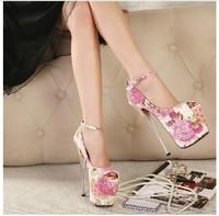 Free shipping  fashion hot women pumps 2014 super beautiful temperament 19CM ultra high heels  women shoes size(35-40)
