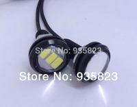 10pcs 2.3CM 10W Car Tail 7000K500-Lumen Waterproof  parking LED Daytime Running lights /Fog Lamps (DC12V) Brake lights