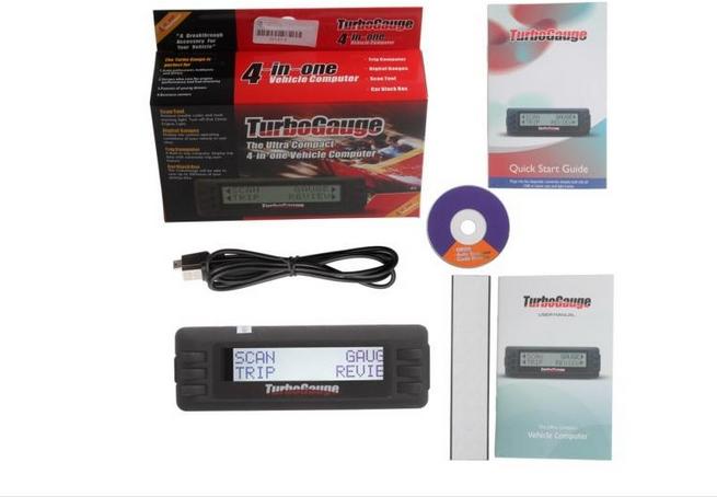 Car Black Box Turbo Gauge 3 Diagnostic Code Reader car Trip Computer OBD2 Scanner,free shipping(China (Mainland))