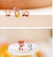 Free ship 1lot=100pcs/Korean stationery kawaii cute new fashion animal party PVC decorative stickers sticker wall stickers