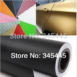 127CM*30CM 3D carbon fiber film panel face decoration film-small DIY piece sticker-color option free shipping(China (Mainland))