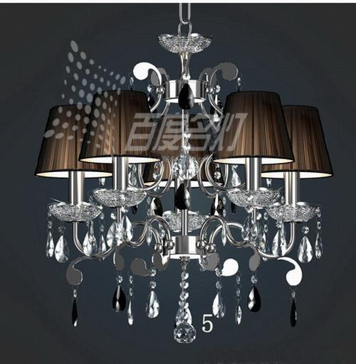 Lamp pendant light fashion lighting crystal k9 living room lights cloth lighting fitting modern fashion brief drawing cover(China (Mainland))