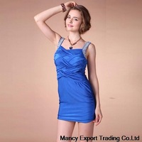 free shipping 2014 summer auger sash belt wrapped chest annual party dress sexy bodycon bandage dress vestidos de fiesta FQ016