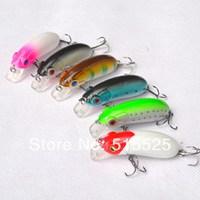 Hot sale Lure minnow 55mm 10 hard bait fishing lure crank bait free shipping