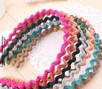 Many colors + Black Metal Sports Hoop Wavy Headband Hairband Hair Band for Men Women free shipping