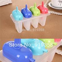 Hot  4pcs/set Colorful Stick Popsicle box DIY Ice Cream Tool Ice Cube Tray Mold Ice Cream Maker  Ice Cream Tubs(ICM-030)