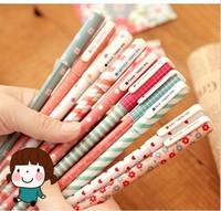 FREE SHIPPING 1LOT OF20pcs / 1set=10pcs wholesale korea stationery kawaii colourful gel pen 10pcs/set