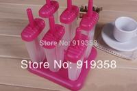 Hot  6pcs/set Stripe with Base Popsicle box DIY Ice Cream Tool Ice Cube Tray Mold Ice Cream Maker  Ice Cream Tubs(ICM-029)