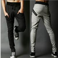 Free shipping 2014 New Men's Haren Pants,Casual Sports cotton Pants, loose Trousers,pocket  zipper design, plus size