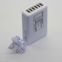 6 USB Port AC Wall/Travel Charger 5 V 5 A output Amp AC Power Adapter UK plug free shipping