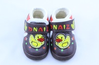 2014 New Winter Baby Boys First Walkers Shoes Black PU Leather Winter Children Shoes Fashion Kids Toddler Shoes