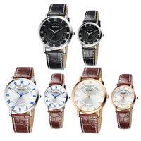 EYKI EET8655 Fashion Lover's Quartz Watch Women Dress Watch Men Watches Wristwatches High Quality Roman Scale Leather Watchband