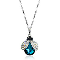 Austrian Crystal water drop Necklace & Pendants made  Elements jewelry Free Shipping