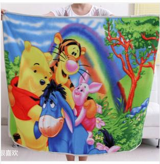 Free shipping new 2014 Cartoon double-sided velvet rugs Baby infant bed sheet air con