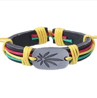 Maple Leaf Bracelet Personalized Jewelry Fashion Leather Bracelet