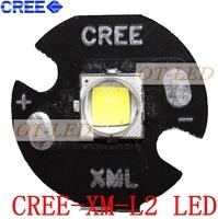 Free shipping!5PCS CREE Xlamp XML2 XM-L2 T6 U2 10W WHITE  High Power LED Emitter Bulb with 16mm Heatsink For Flashlight/DIY