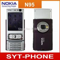 Original NOKIA N95 8GB Mobile Phone 3G 5MP Wifi GPS 2.8''Screen GSM Unlocked Smartphone with One year warranty