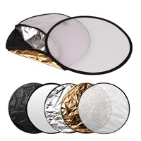 "60cm 24"" 5 in 1 Portable Collapsible Photo Reflector Photography light Round reflector for Studio mulit Disc Reflector P0012682"