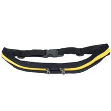 Mini Sporty Travel Anti Theft  Adjustable Waist Belt Bag (Yellow,38x4cm)(China (Mainland))