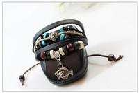 Ocean Series Fish Leather Bracelet Jewelry