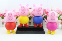 Peppa pig Family PVC figure toy Daddy Mummy GEORGE dolls loose