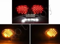 Smoke Integrated LED Tail Light Signals For Kawasaki ZX900 1998 1999 2000