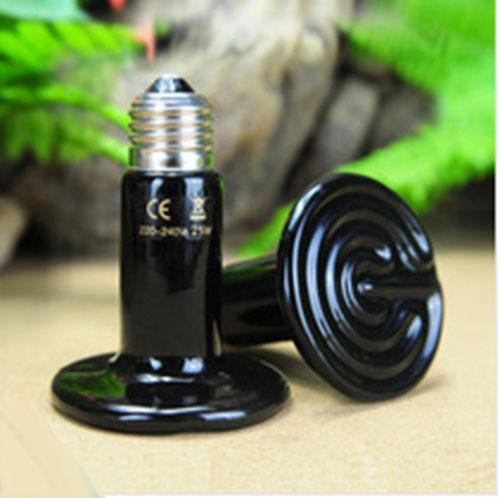 4pcs/lot High Quality Black 100W 220V Ceramic Heat lamp Bulb Reptile pet amphibian poultry Bulb Pet heat light(China (Mainland))