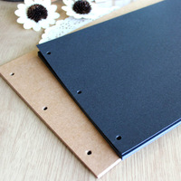 Diy photo album photo album photo album bag paste type corner posts fitted black card cowhide 26x18cm