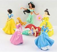 New 6pcs/set Snow White Cinderella Princess Series figure for children