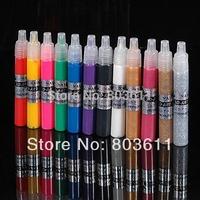 12 Colors Professional Beautiful 3D Nail Art Paint Drawing Pen Acrylic Nail Art Polish DIY