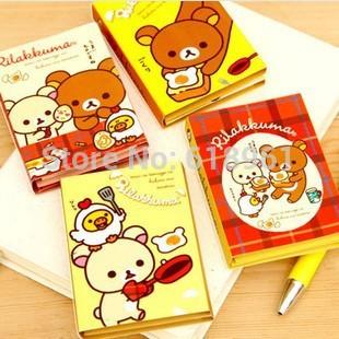 1piece Cute Bear Memo Pad Sticky Notes Kawaii Paper Scrapbooking Sticker Pads Creative Korea Stationery(China (Mainland))