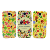 High Quality Cartoon Cute Owl Babies Family Soft TPU Case Back Gel-Silicon Cover For Samsung Galaxy S4 I9500