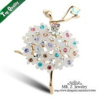 Ballet Girl Rhinestone Brooches For Women Fashion Brand Brooch Pins 5pcs/lot Free Shipping