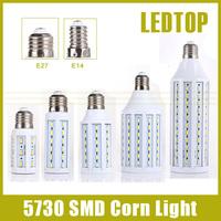 E27 E14 5730 5630 CREE LED SMD Corn Bulb Light 220V 110V spotlight lamp, 5w 7w 10w 12w 15w 20w 25w 30w 40w 50w, Free shipping