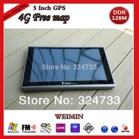 Wholesale - 5 inch Car GPS Navigation 128M+FM+Free Maps 4GB 3D map Car GPS Navigator WinCE 6.0