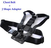 Hot Sport Camera Mini DV Harness Adjustable Gopro Chest Belt Body Strap Mount with J Shape Camera Holder Adapter For Gopro Hero