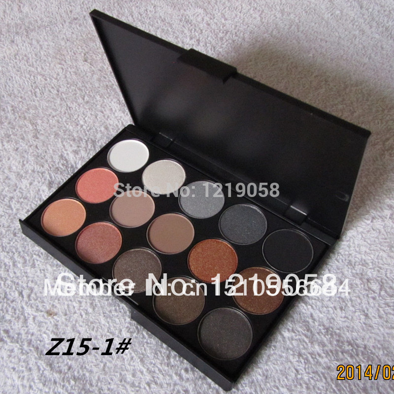 3 Different New fashion 15 Earth Color Matte Pigment Eyeshadow Palette Cosmetic Makeup Eye Shadow for women free shipping(China (Mainland))