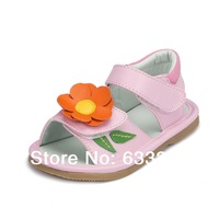 leather Girl's Casual Flat Heel Round Toe Flats with The butterfly section Girls sandals JYG108(More Colors)