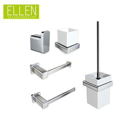 bathroom accessories set square towel holder,toilet brush holder,paper holder,tumble holder,robe hook(China (Mainland))