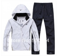 new 2014 spring and autumn brand sport suit men sportswear hoodies track suit big size L~4XL tracksuits men sport suit  NMK