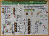 Plc programmable logic controller experimental board plc experiment board plc learning board finished board