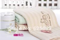 Free Shopping Double Embroidery Children's soft skin-friendly fiber towel Beauty Pure 100% cotton towel boy 50*25CM 2pcs/lot